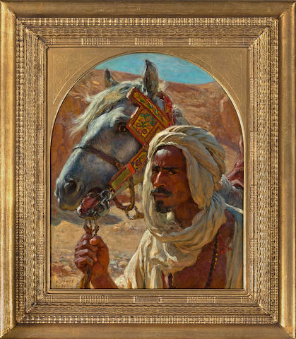 (n/a) Alphonse Etienne Dinet (French, 1861-1929) L'Arabe et son cheval