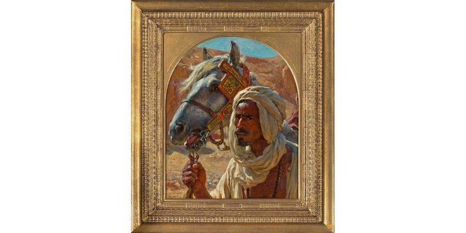 (n/a) Alphonse Etienne Dinet (French, 1861-1929) L'Arabe et son cheval