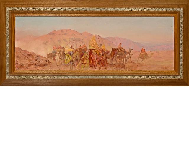 Eugène Deshayes (French, 1865-1954) Le crépuscule rose du Sahara, Algérie