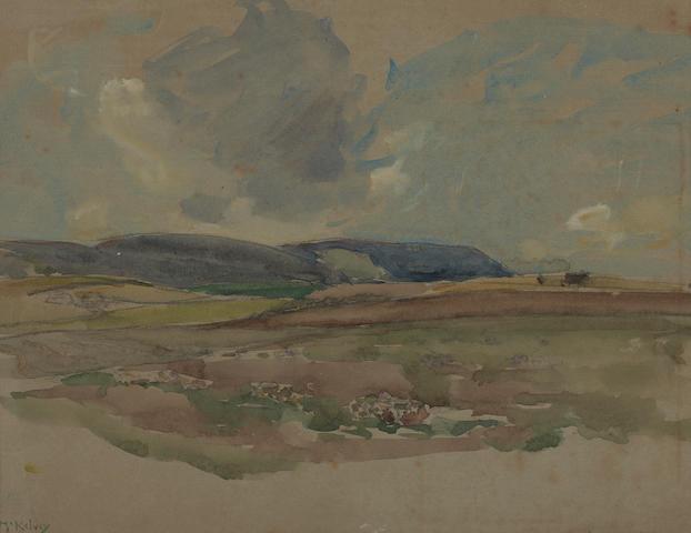 Frank McKelvey R.H.A., R.U.A. (Irish, 1895-1974) An Irish landscape