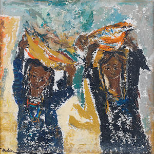 Tahia Halim (Egypt, 1919-2003) Two Girls,