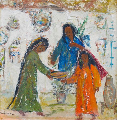 (n/a) Tahia Halim (Egypt, 1919-2003) Three Girls,