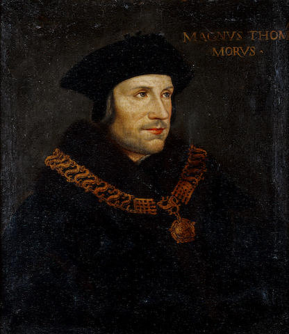 After Hans Holbein the Younger, 18th Century Portrait of Sir Thomas More,
