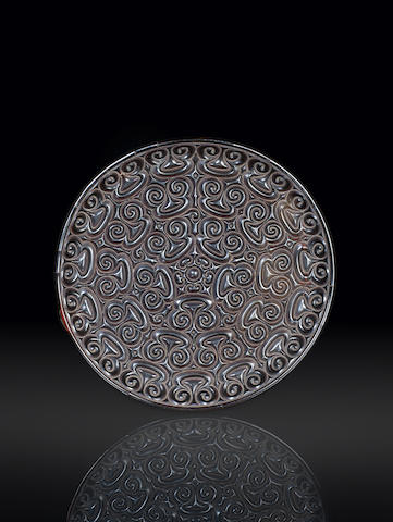 A large carved tixi black lacquer dish Song/Yuan Dynasty - MING?