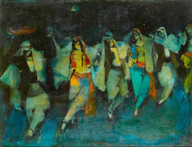 (n/a) Adham Wanly (Egypt, 1908-1959) Nocturne Dabaka Dancers,