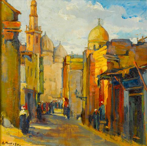 (n/a) Kamel Moustafa (Egypt, 1917-1982) Cairo Street Scene,