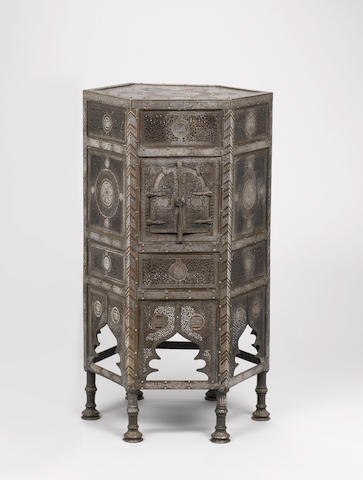 A Mamluk Revival silver-inlaid copper Qur'an Stand (kursi) Egypt or Syria,  late 19th/ early 20th Century