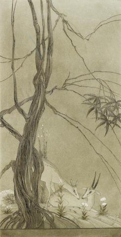 (n/a) Abdur Rahman Chughtai (Pakistan, 1897-1975) Evensong,