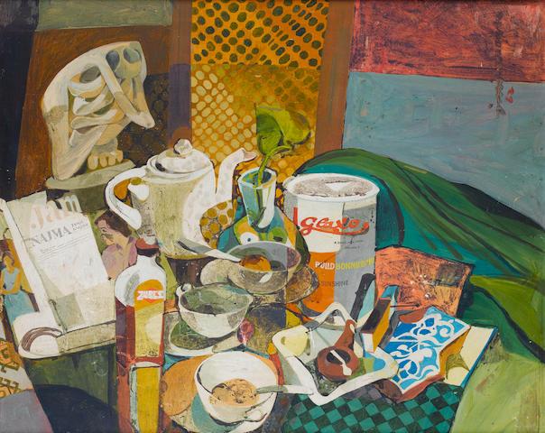 (n/a) Jamil Naqsh (Pakistan, born 1938) Bedside Table,