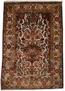A silk Kashan souf rug Central Persia, 7 ft 2 in x 4 ft 7 in (219 x 140 cm)