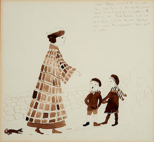 Helen Bradley (British, 1900-1979) 'Aunt Mary wanted to try out her new coat..'