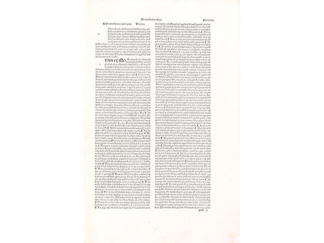 PANORMITANUS DE TUDESCHIS (NICOLAUS) Lectura super primo Decretalium, parts 1 and 2 (of 7) bound in one vol.