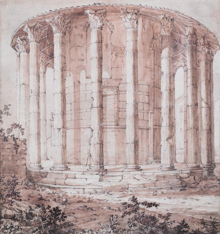 Temple of Vesta Early 19th century English school