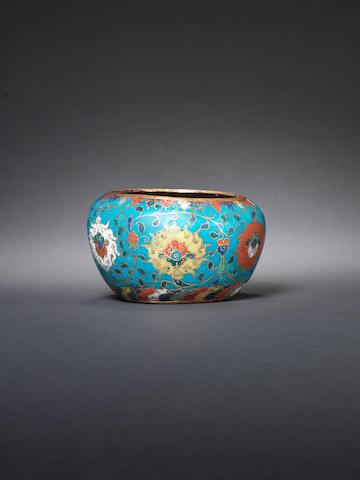 A cloisonné enamel alms bowl 16th century