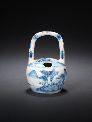 A rare blue and white lime pot Circa 1750