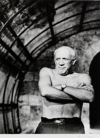 Andre Villers, Vallarius (Picasso with hands folded), framed gelatin silver print