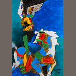 Maqbol Fida Husain (India, born 1915) The Eagle and the Horse,