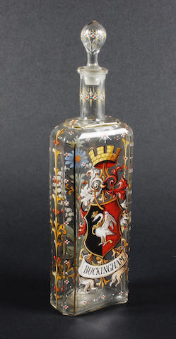 A central European glass decanter and stopper 19th Century.