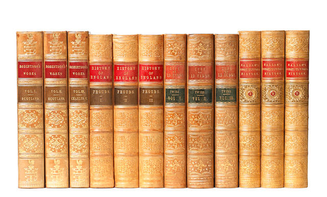 BINDINGS FROUDE (JAMES ANTHONY) The History of England, from the Fall of Wolsey to Death of Elizabeth, 8 vol.