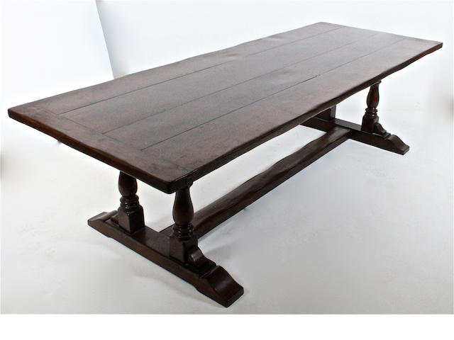 Repro 17th c oak refectory table