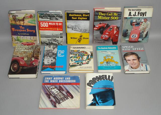 A good selection of motoring books,