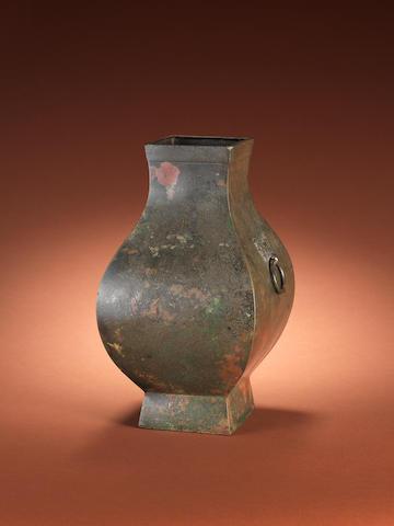 An archaic bronze vase, hu Han Dynasty