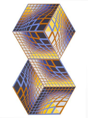 Victor Vasarely sculpture
