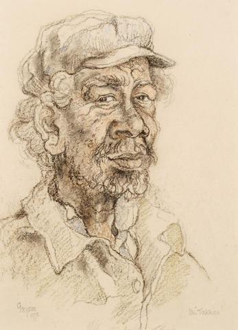 """Gregoire Boonzaier (South African, 1909-2005) Ou """"Takkies"""""""