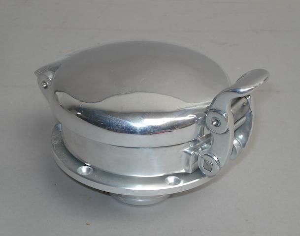 A new aluminium Le Mans type quick release locking fuel cap,