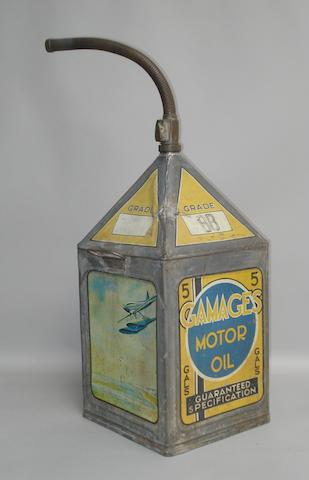 A Gamages five gallon petrol can,