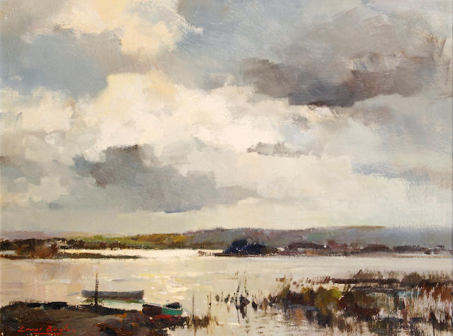 Errol Stephen Boyley (South African, 1918-2007) Swartvlei Lagoon (Black Lake)