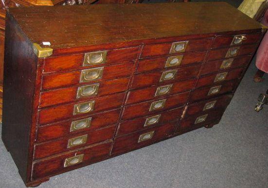 A collector's early 19th Century mahogany cabinet,
