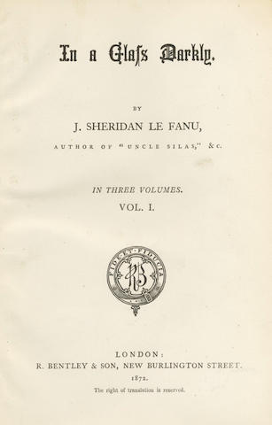 LE FANU (JOSEPH SHERIDAN) In a Glass Darkly, 3 vol.