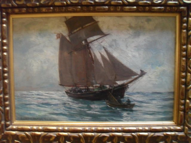 Andrew Black, RSW (British, 1850-1916) A Ship at full sail