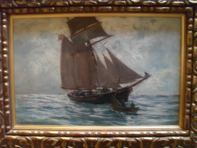 Andrew Black, RSW (British, 1850-1916) A Ship at full sail