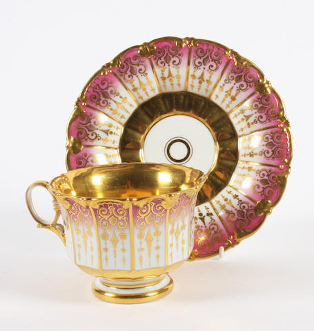 A Berlin cabinet cup and saucer Late 19th Century.