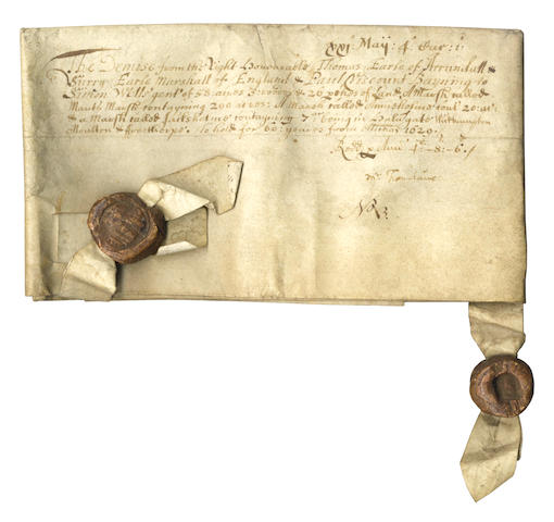 ARUNDEL (THOMAS, Earl of) Document signed