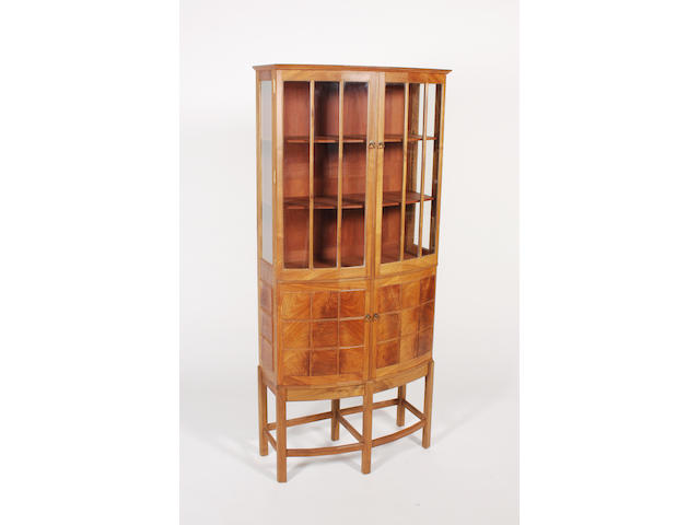 A good Hugh Birkett figured walnut cabinet dated 1996