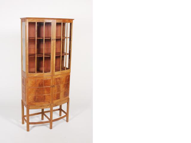 A good Hugh Birkett figured walnut cabinet dated 1996