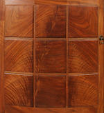 A fine Hugh Birkett figured walnut cabinet dated 1996