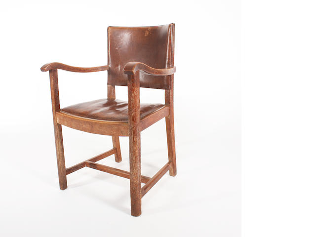 An oak carver chairs by Heales.