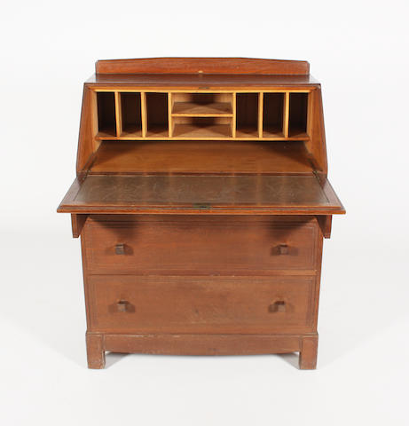 An oak bureau attributed to Brynmawr Furniture Makers Ltd