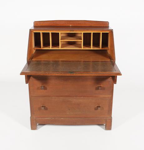 An oak bureau by Brynmawr, 85cm wide.
