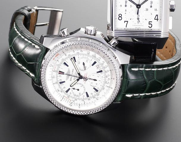 Breitling. A stainless steel automatic chronograph wristwatchFor Bentley Motors, Reference A25362, Case Number 2267927, Recent