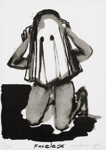 Marlene Dumas (South African, born 1953) 'Faceless'