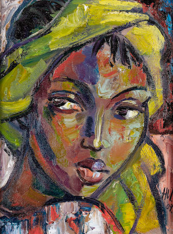 Hennie Niemann Jnr. (South African, born 1972) The yellow scarf