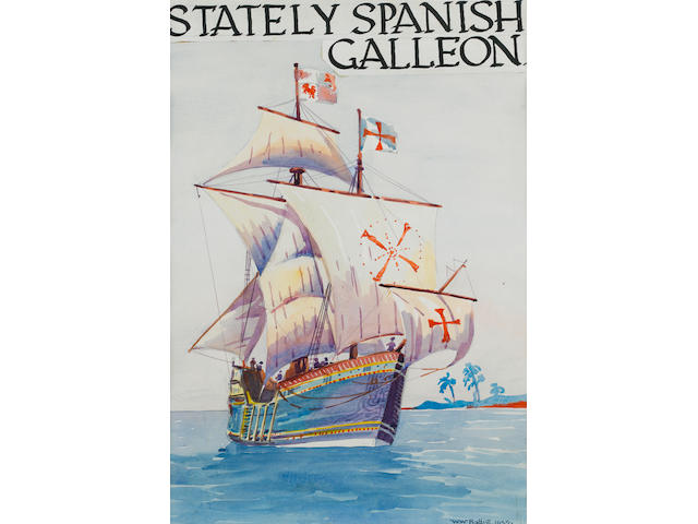 Walter Whall Battiss (South African, 1906-1982) 'Stately Spanish Galleon'