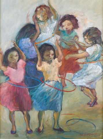 Amos Langdown (South African, 1930-2006) Hula Hoops