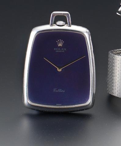 Rolex. A fine 18ct white gold pendant pocket watch Cellini, Case Number 2920353, date??