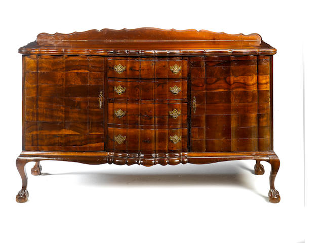 An early 20th century stinkwood side cabinet